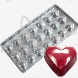 """Форма поликарбонатная для шоколада """"Маленькое дутое сердце"""""""