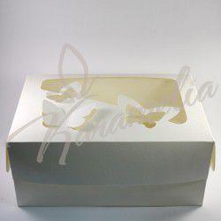 """Коробка на 6 кексов с окошком """"Бабочка"""", белая 250*170*110"""