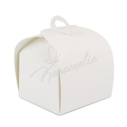 Коробка Лепесток Белая 110*110*110