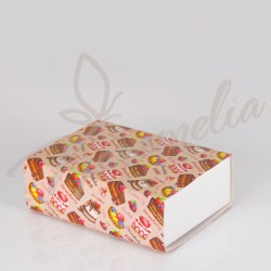 Коробка для макаронс на 12 шт, Cake Chokolate (печенье зефир конфеты), 115 * 155 * 50
