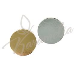 Подложка золото/серебро круглая d 18 cм