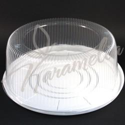 Коробка пластиковая для торта, белая, d 32 см, h 11 см