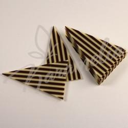 Шоколадные треугольники в полоску белый/чёрный шоколад