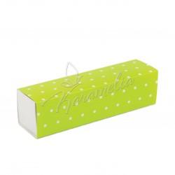 Коробка для макаронс на 7 шт зеленый горошек 195*50*50