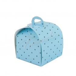 Коробка Лепесток Голубой горошек 110*110*110