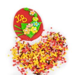 """Набор """"Пасхальное яйцо с серебряными шариками и посыпкой"""""""