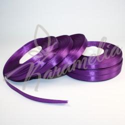 Лента атласная фиолетовая 0,6 см рулон