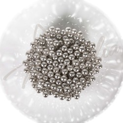 Сахарные шарики серебряные, 7 мм