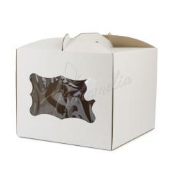 Упаковка для тортов, 230*230*210 с окошком