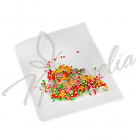 Перламутровый Микс № 17 (звезды, цветы, золото) в прозрачном пакете
