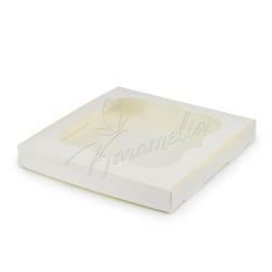 Коробка для пряников с окном молочная 23 * 23 * 3