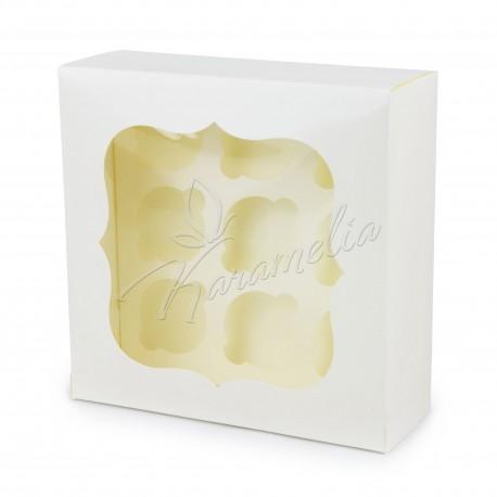 Коробка на 12 кексов с окошком, белая, 340 * 250 * 90