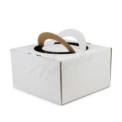 Упаковка для тортов, 260*260*150 с ручкой