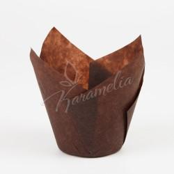 Формочки для маффинов тюльпаны Коричневые, 160*50 мм