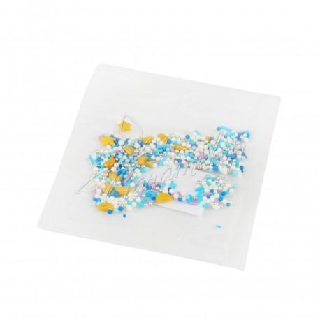 Перламутровый Микс № 8 (звезды, месяц, серебро) в прозрачном пакете