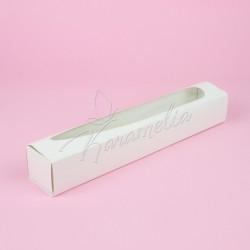 Коробка для макаронс большая белая, 300*50*50