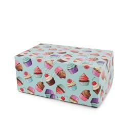 """Коробка-контейнер """"Кексики"""" голубой фон, 180 * 120 * 80"""
