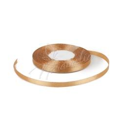 Лента атласная светло-коричневая, 0,6 см рулон