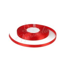 Лента атласная красная, 0,6 см рулон