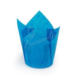 Формочки для маффинов тюльпаны Синие, 150/50 мм