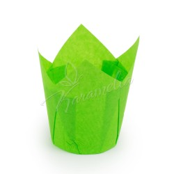 Формочки для маффинов тюльпаны Зеленые, 150/50 мм