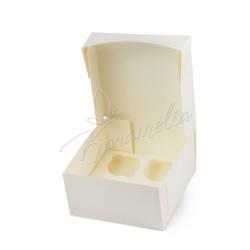 Коробка на 4 кекса без окошка, молочная 170 * 170 * 90
