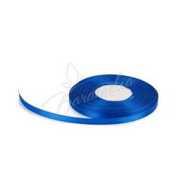 Лента атласная синяя 0,6 см рулон