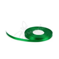 Лента атласная зелёная 0,6 см рулон