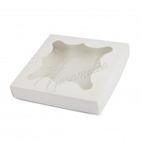 Коробка для пряников с окном, белая 155 * 155 * 30