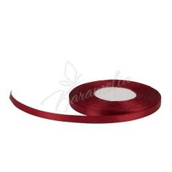 Лента атласная бордовая 0,6 см рулон
