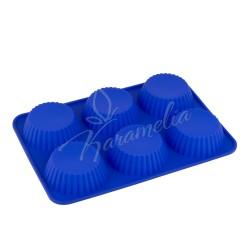 Форма силиконовая на 6 кексов, круглые