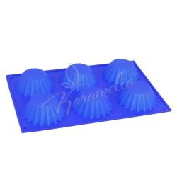 Форма силиконовая для 6 кексов 31х21х3,5см
