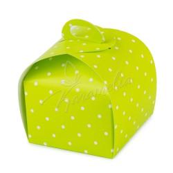 Коробка Лепесток Салатовый горошек 110*110*110