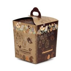 Упаковка для кулича картонная №3 (коричневая)
