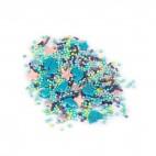 Перламутровый микс № 16 (голуби, цветы, голубые шарики) в прозрачном пакете