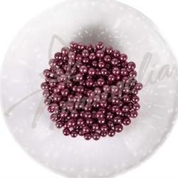 Сахарные шарики розовый металлик, 5 мм