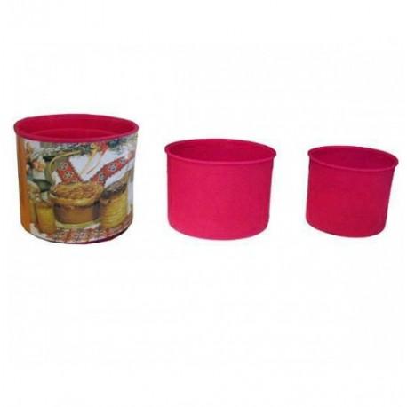 Набор форм силиконовых для куличей, 3 шт.
