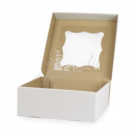 Коробка на 9 кексов с окошком, 260 * 260 * 90