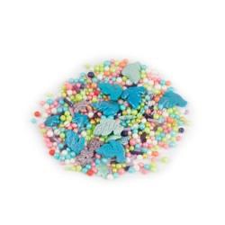 Перламутровий микс №14 (голуби, розовые шарики) в прозрачном пакете