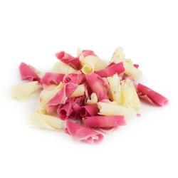 Шоколадная посыпка лепестки розовые мраморные