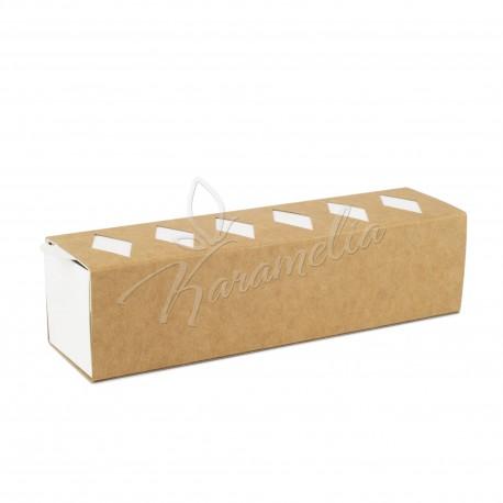 Коробка для макаронс крафт, 200 * 50 * 50