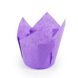 Формы для маффинов тюльпаны фиолетовые