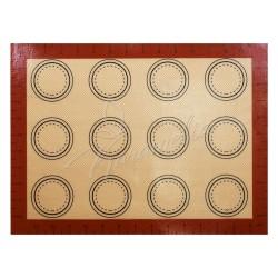 Коврик силиконовый для выпечки макаронс (12 штук)