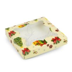 """Коробка для пряников с окном """"Елочка"""" 155 * 155 * 30"""