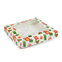 """Коробка для пряников с окном """"Подарок"""" 200 * 200 * 30"""