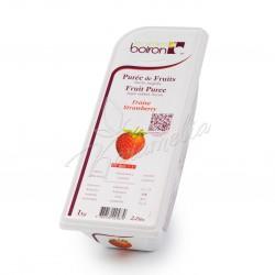 Замороженное фруктовое пюре из клубники с сахаром