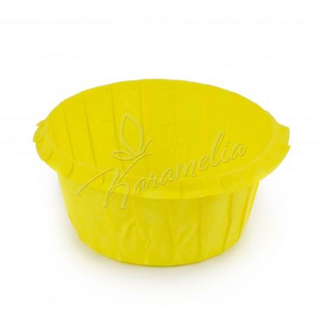 Формы для маффинов с бортом желтые, 55 * 35 мм