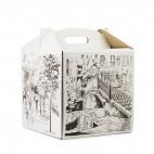 Упаковка для тортов с рисунком, 300 * 300 * 300