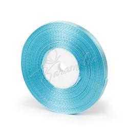 Лента атласная голубая 0,6 см рулон