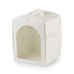 Упаковка для кулича с окном белая 170 * 170 * 210